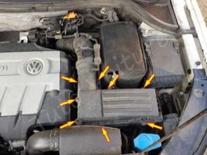 Visserie boîte à air - Volkswagen Tiguan phase 1 - Tutovoiture
