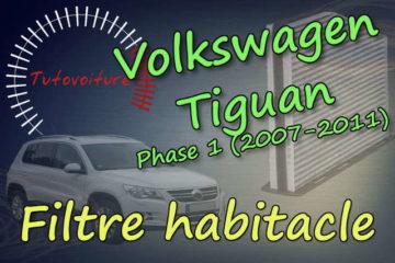 Changer filtre habitacle Tiguan