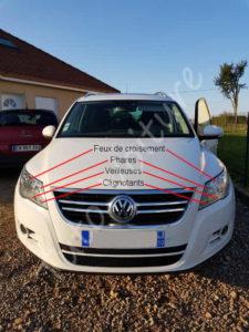 Localiser les ampoules avant - Volkswagen Tiguan - Tuto voiture