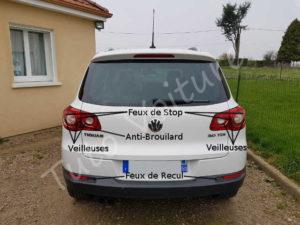 Localiser les ampoules arrière - Volkswagen Tiguan - Tuto voiture
