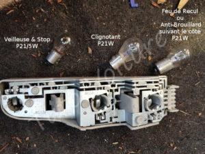 Type d'ampoule arrière - Ford Fiesta 3 - Tuto voiture
