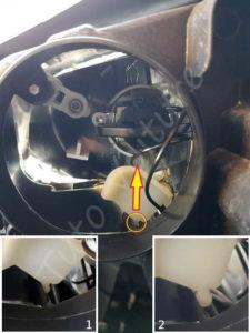 Décrocher l'ampoule veilleuse phare & veilleuse - Volkswagen Tiguan - Tutovoiture