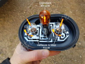 Support ampoule ampoule feux arrière - Volkswagen Tiguan - Tutovoiture