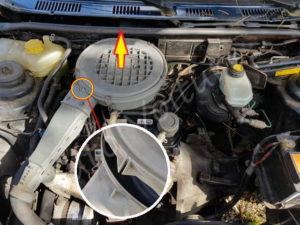 Retirer le couvercle filtre à air - Ford Fiesta 3 essence - Tutovoiture