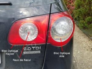 Bloc arrière éclairage - Volkswagen Passat B6 - Tutovoiture