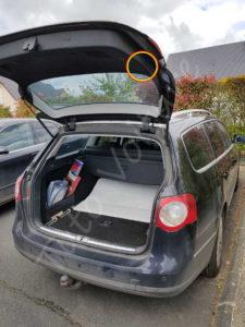 Trappe accès bloc arrière éclairage hayon - Volkswagen Passat B6 - Tutovoiture