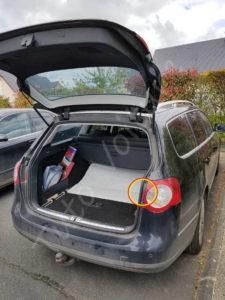 Fixation bloc arrière éclairage - Volkswagen Passat B6 - Tutovoiture