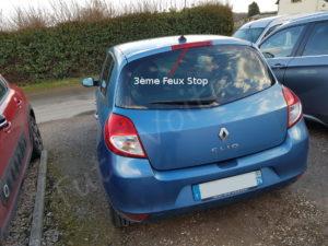 Position du 3ème feu stop - Renault Clio 3 - Tutovoiture