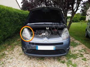 Remplacer son optique avant - Citroën C4 Picasso - Tutovoitre