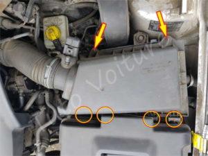 Vis du couvercle du filtre à air - Volkswagen Bora - Tutovoiture