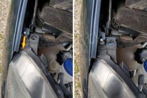 Retrait du pion du phare avant - Citroën C4 Picasso - Tutovoiture