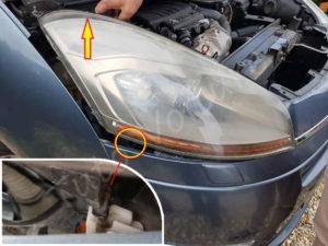 Sortir le phare avant - Citroën C4 Picasso - Tutovoiture