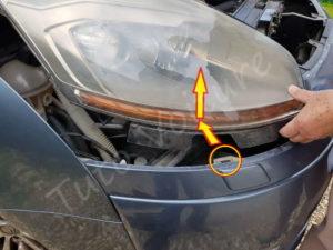 Enlever l'optique avant - Citroën C4 Picasso - Tutovoiture