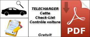 Check-List contôle de la voiture