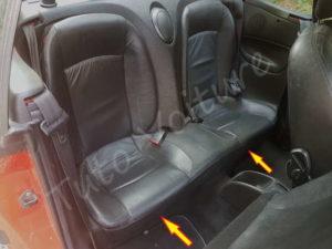 Ecrou de l'assise du siège arrière - Peugeot 206CC - Tutovoiture