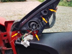 Vis Torx du rétroviseur extérieur - Peugeot 206 - Tutovoiture