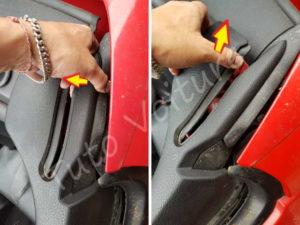 Déposer du cache dossier lateral - Peugeot 206cc - Tutovoiture