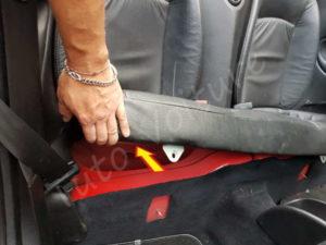 Fixation dossier et la banquette arrière - Peugeot 206 CC
