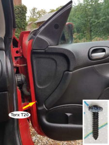 Vis Torx Flanc intèrieur de porte - Peugeot 206 - Tutovoiture