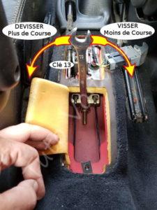 Régler le frein à main - Peugeot 206cc - Tuto voiture
