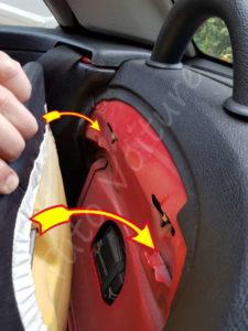 Accrochage du dossier - Peugeot 206 CC - Tutovoiture
