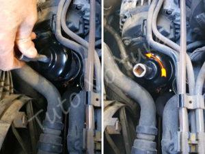 Installer la cloche sur le filtre à huile - Renault Kangoo - Tutovoiture