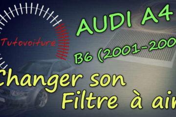 Changer son filtre à habitacle - Audi A4 - Tutovoiture