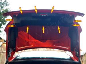 Agrafes garniture coffre - Peugeot 206cc - Tutovoiture