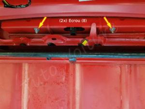Fixation 3eme feu stop - Peugeot 206cc - Tutovoiture