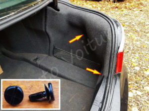 Fixation Garniture coffre BMW E60 - Tutovoiture