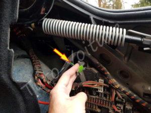 Câble secours trappe essence BMW E60