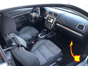 Ou se trouve le filtre habitacle Volkswagen EOS CC