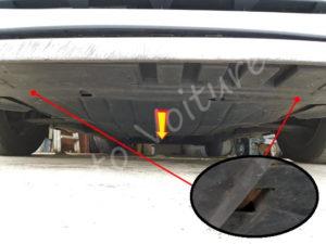 Patte protection moteur Renault Clio 3