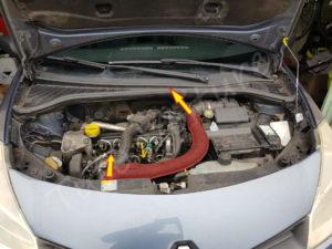 Accés au filtre à huile Renault Clio 3