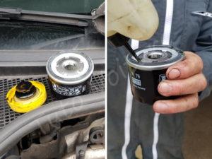 Lubrifier le joint du filtre à huile Renault Clio 3