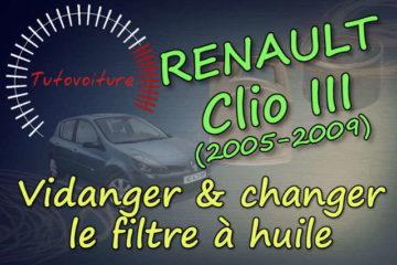 Changer son filtre à huile Renault Clio 3