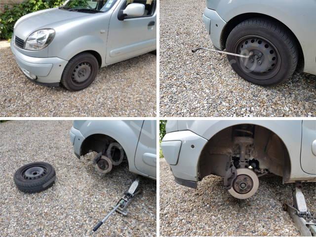 Enlever une roue - Renault Kangoo - Tutovoiture