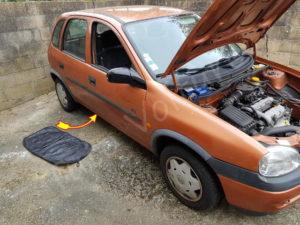 Emplacement du filtre à carburant - Opel Corsa