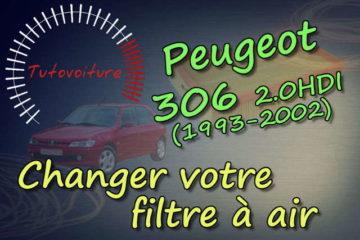 Remplacer votre filtre à air - Peugeot 306 HDI