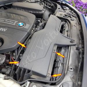 Fixation cache filtre a air BMW Série 1