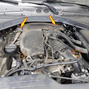 Fixation du cache moteur bmw serie 1 F21