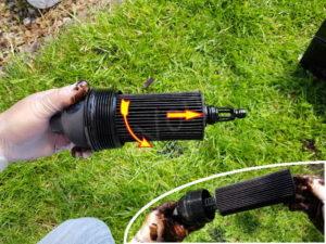 Démonter le filtre a huile bmw serie 5 E60