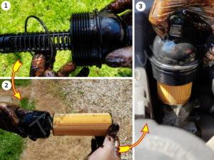 Monter filtre huile bmw E60