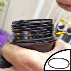 Encoche couvercle filtre a huile bmw serie 1