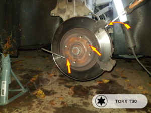 comment changer les disque de frein avant 207
