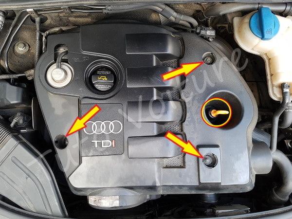 cache moteur supérieur audi A4 B6