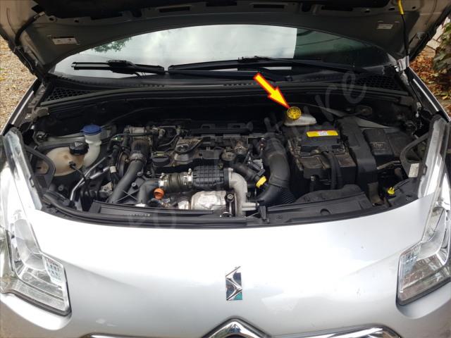 ouvrir bocal frein Citroën DS3