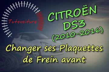 Changer ses plaquettes de frein avant Citroën DS3