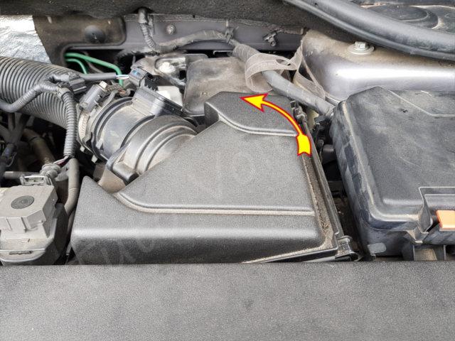 Accéder au filtre à air - Renault Laguna 2