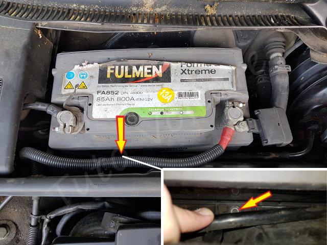 fixation batterie audi A4